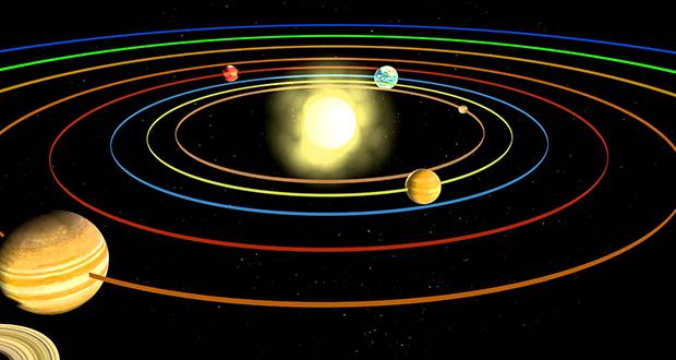 چرا زمین به دور خورشید می چرخد؟