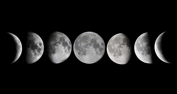 چرا ماه شکل های مختلفی دارد؟