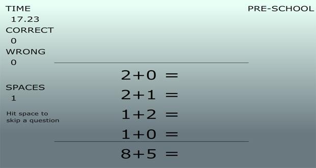 بازی آنلاین ریاضی سریع
