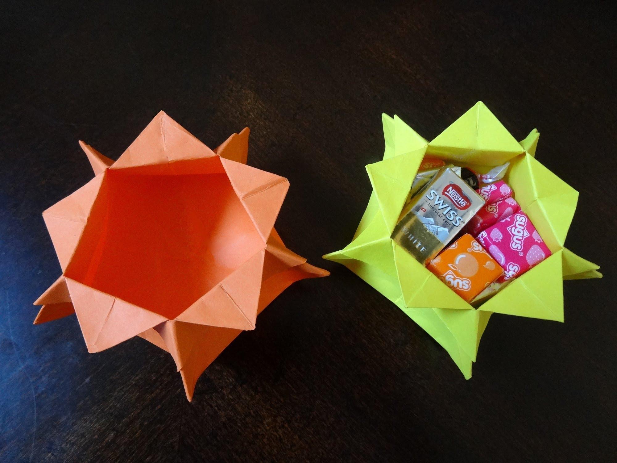 ایده ساخت ظرف شکلات اوریگامی
