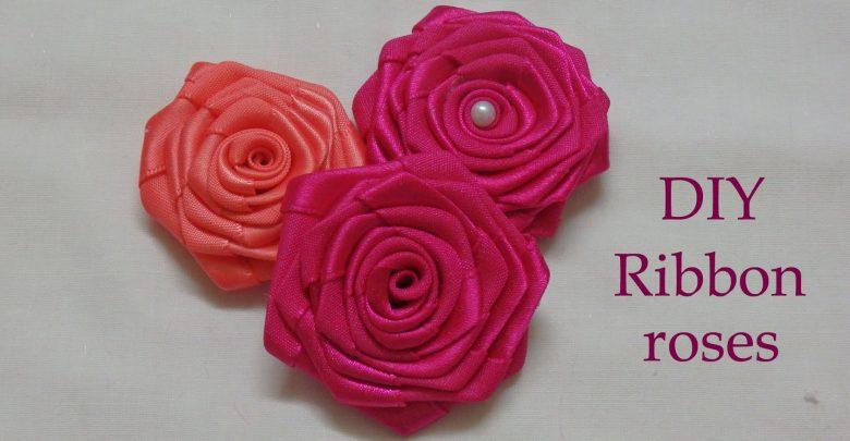 ایده ساخت روبان گل رز