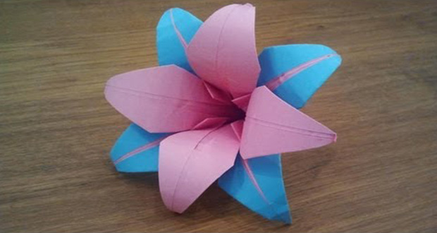 ایده ساخت گل سوسن اوریگامی