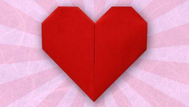 ایده ساخت قلب اوریگامی