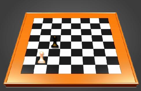 سرباز سفید در اولین حرکت می تواند دو خانه به جلو برود.