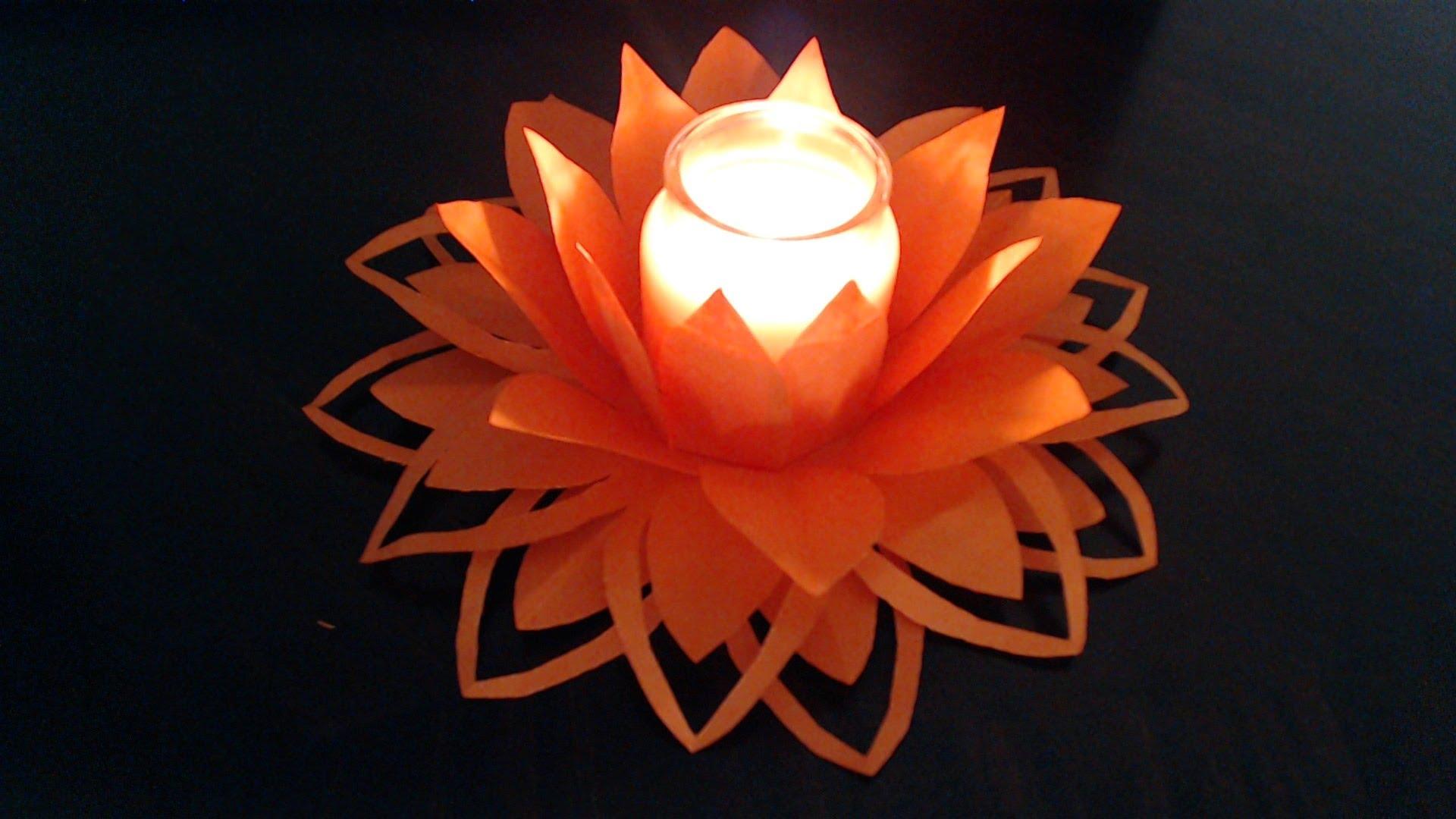 ایده تزئین شمع با گل کاغذی