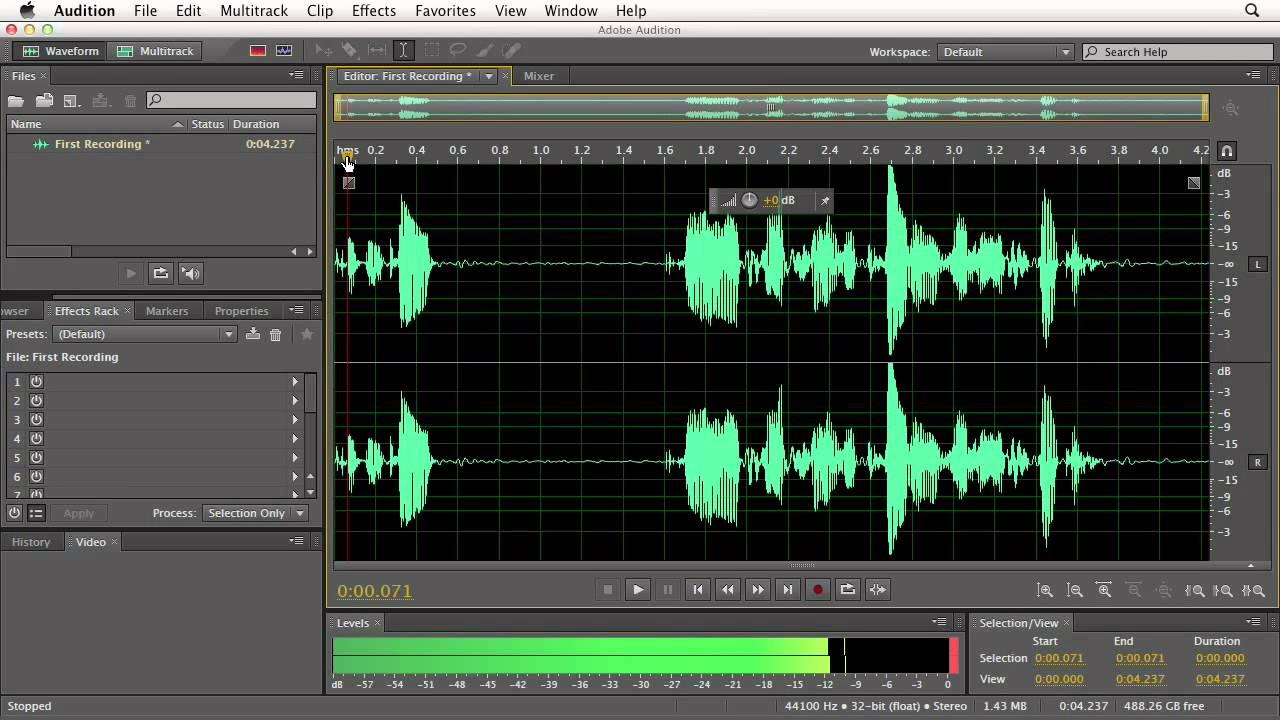 انتقال صدا از وسائل صوتی به کامپیوتر با نرم افزار Adobe Audition