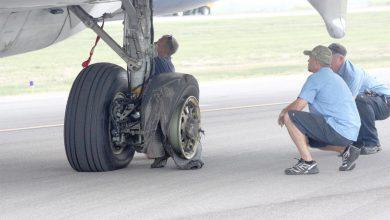 چرا لاستیک هواپیما می ترکد؟